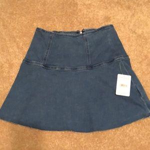 NWT Free People flare denim skirt